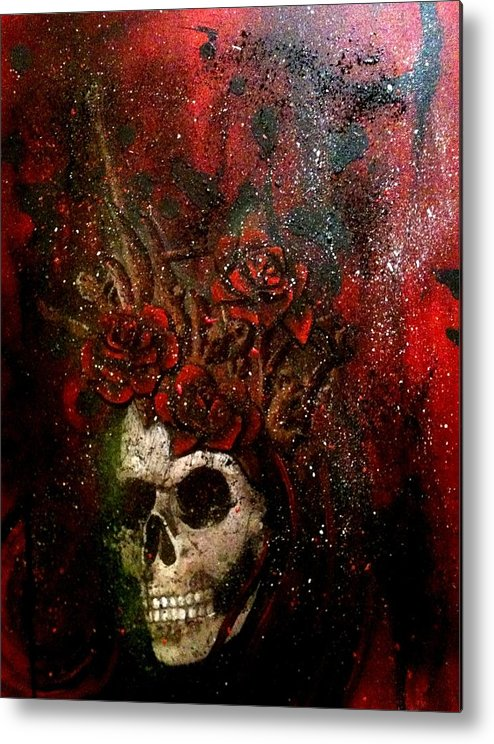 Metal Print featuring the painting Masquerade by Ericka Bales