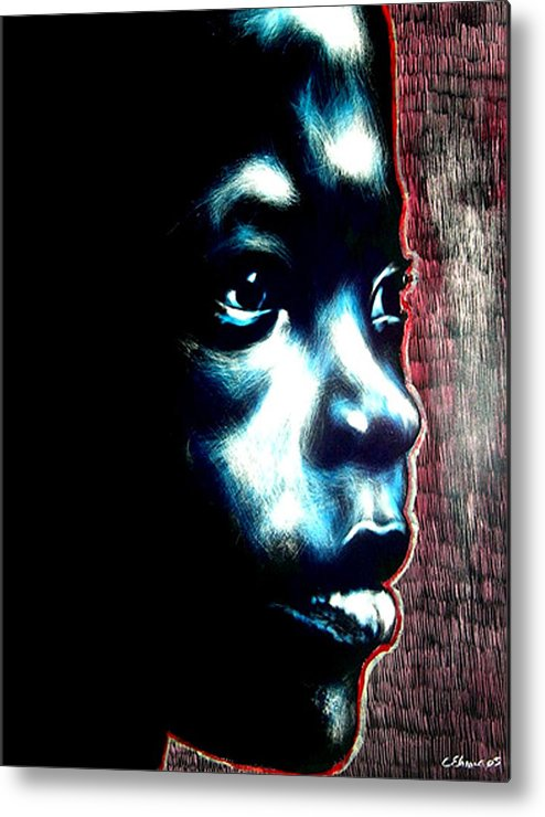 Metal Print featuring the mixed media Master Blue by Chester Elmore