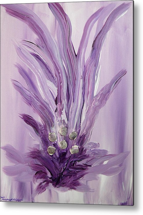 Abstract Metal Print featuring the mixed media Merl An Ah by Emerald GreenForest
