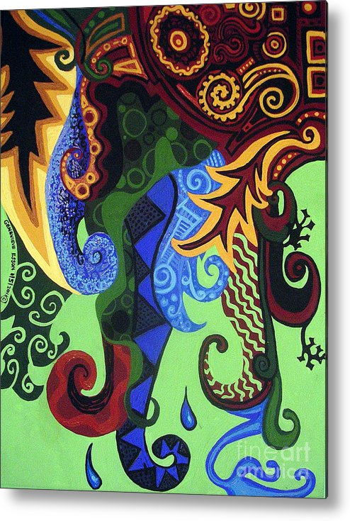 Metaphysical Fauna Metal Print featuring the painting Metaphysical Fauna by Genevieve Esson