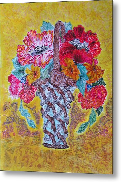 Floral Metal Print featuring the painting Mexican by John Vandebrooke