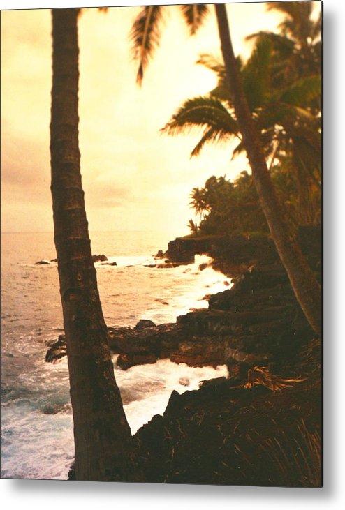 Beach Metal Print featuring the photograph Misty Dawn by Diane Merkle