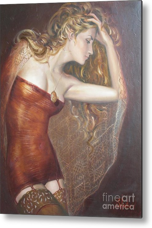 Ignatenko Metal Print featuring the painting My Talisman by Sergey Ignatenko