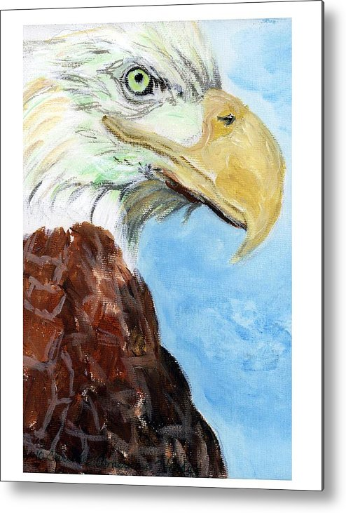 Wildlife Metal Print featuring the painting Netsevohto by Christie American Horse