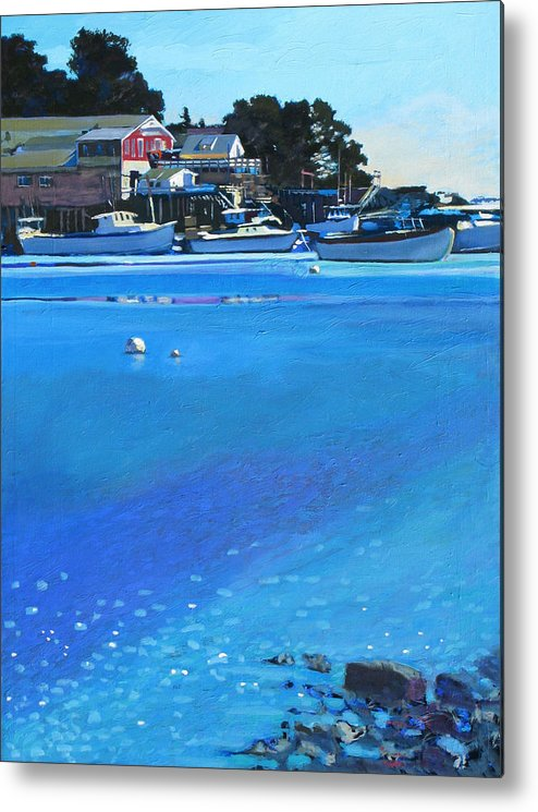 Maine Metal Print featuring the painting New Harbor by Robert Bissett