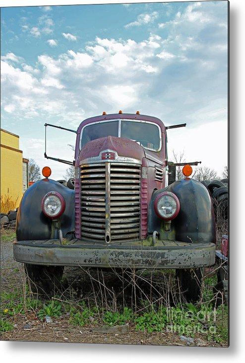 Truck Metal Print featuring the photograph 1946 International Truck by Steve Gass
