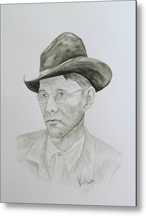 Old Man Metal Print featuring the painting Old Man by Torrie Smiley