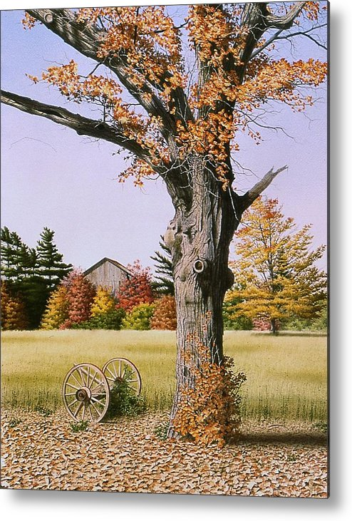 Rural Metal Print featuring the painting Ontario In October by Conrad Mieschke