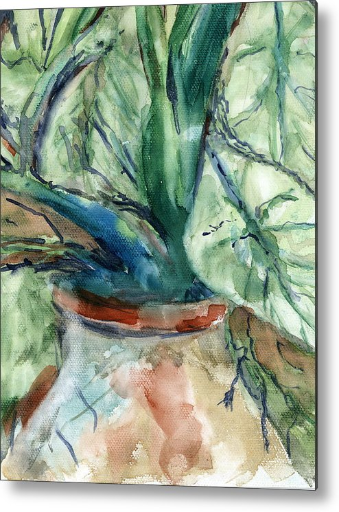 Plant Metal Print featuring the painting Organic by Marilyn Barton