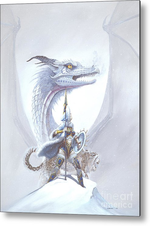 Dragon Metal Print featuring the painting Polar Princess by Stanley Morrison