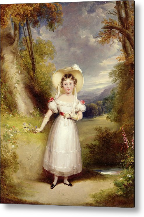 Princess Metal Print featuring the painting Princess Victoria Aged Nine by Stephen Catterson the Elder Smith