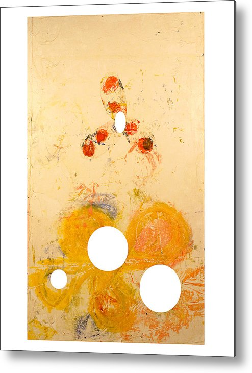 Abstract Metal Print featuring the painting Punctuations by Howard Goldberg