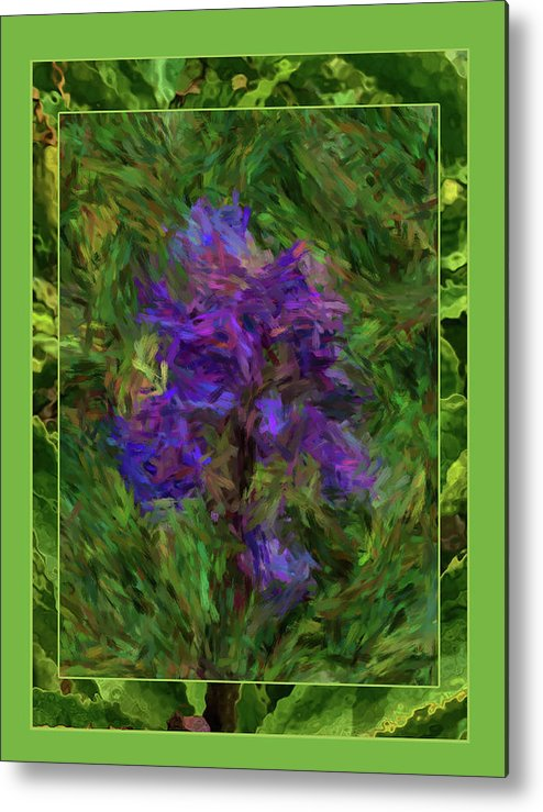 Abstract Metal Print featuring the digital art Purple Png Flower by Shirley Dawson