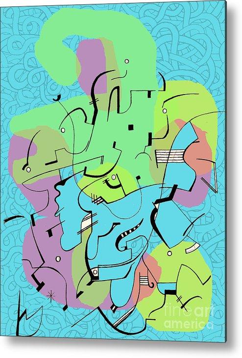 Lines Metal Print featuring the digital art Random Lines by Andy Mercer