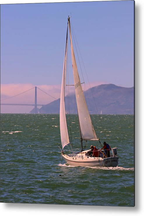 Golden Gate Bridge Metal Print featuring the photograph Red Ryder On A Run To The Gate by DUG Harpster