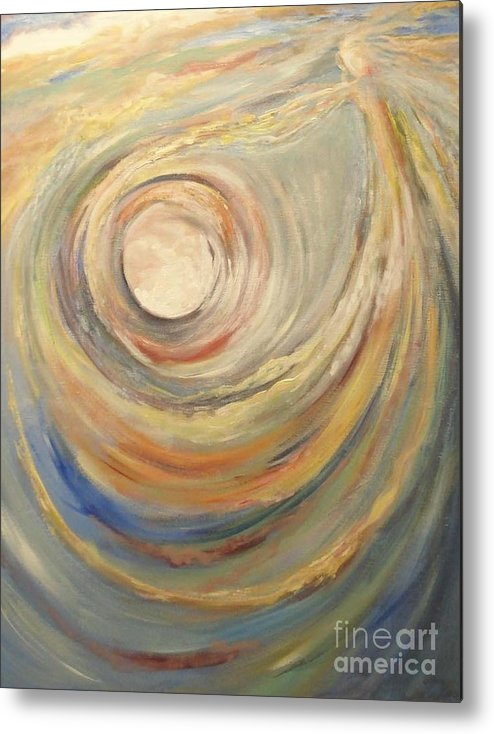 Angels Metal Print featuring the painting Releasing The New Song by Kathy Brusnighan