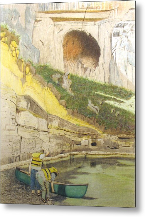 River Metal Print featuring the painting River Adventure by Myrna Salaun