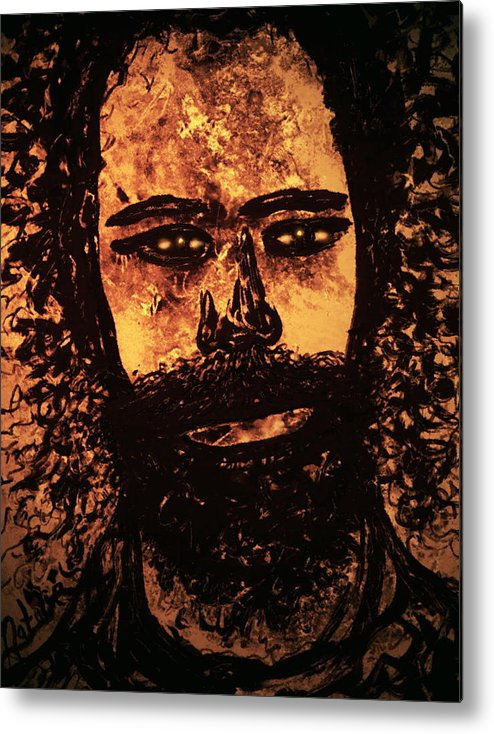Expressionism Metal Print featuring the mixed media Romantic Poet by Natalie Holland