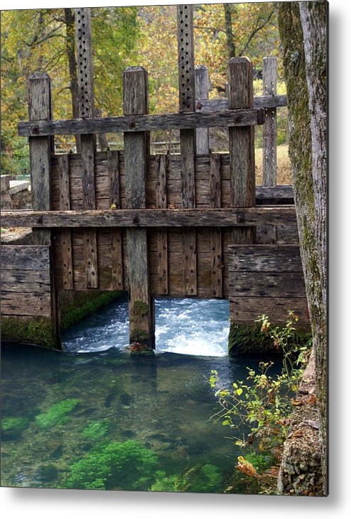 Alley Spring Metal Print featuring the photograph Sluce Gate by Marty Koch