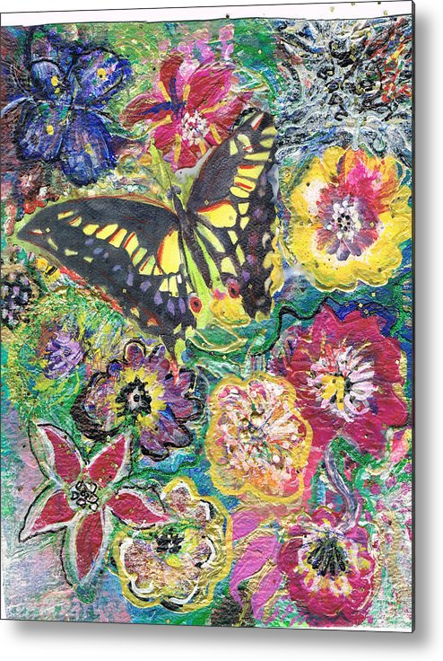 Flowers Metal Print featuring the painting So Many Flowers So Little Time by Anne-Elizabeth Whiteway