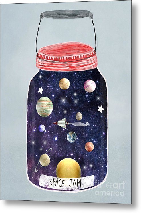 Space Metal Print featuring the painting Space Jam by Bri Buckley