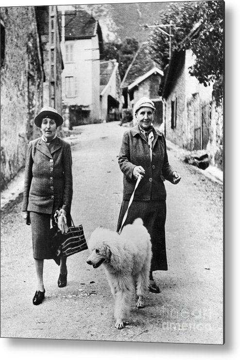 1944 Metal Print featuring the photograph Stein And Toklas, 1944 by Granger