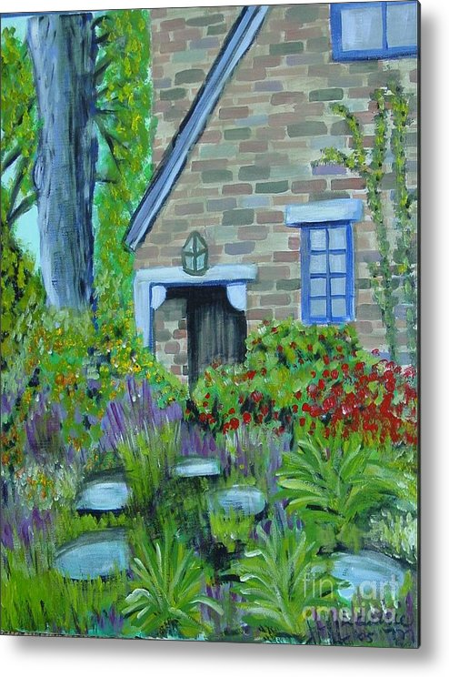 Cottage Metal Print featuring the painting Summer Retreat by Laurie Morgan