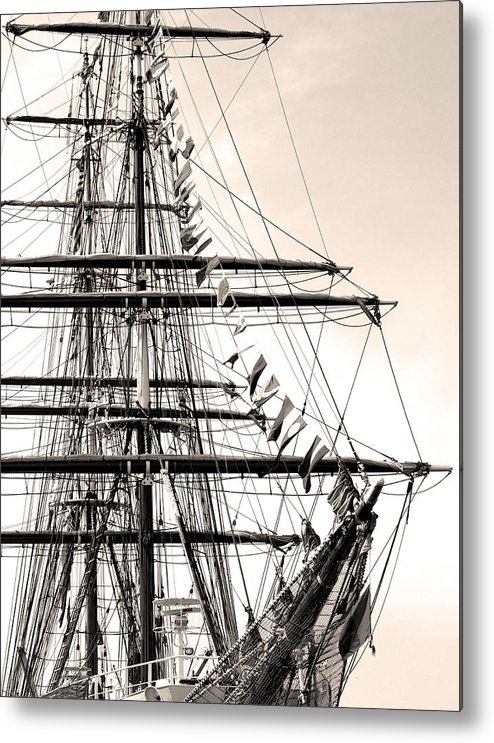 Cape Fear River Metal Print featuring the photograph Tall Ship by Paul Boroznoff