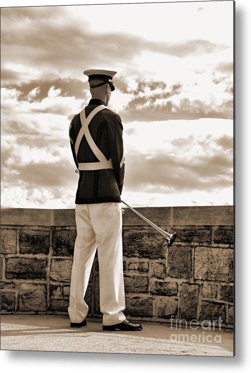 Metal Print featuring the photograph Tech Soldier by Kathy Jennings