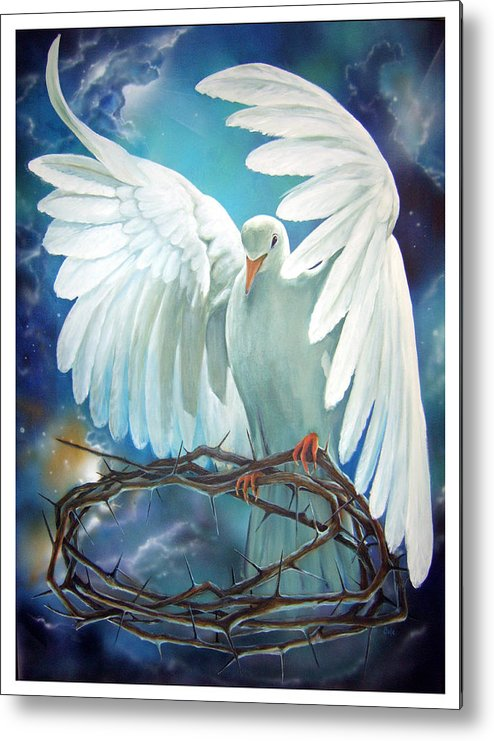 Dove Metal Print featuring the painting The Dove by Larry Cole