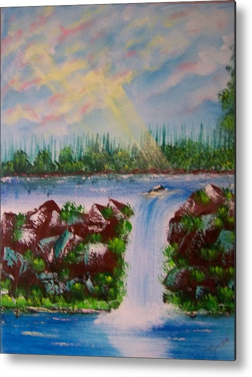 Acrylic Metal Print featuring the painting The Glory Of The Lord by Laurie Kidd