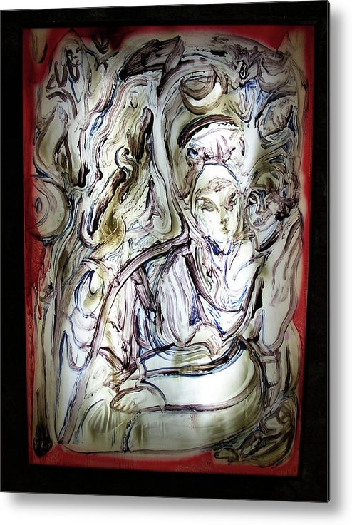 Light Metal Print featuring the painting The Whisperer by Dean Cercone