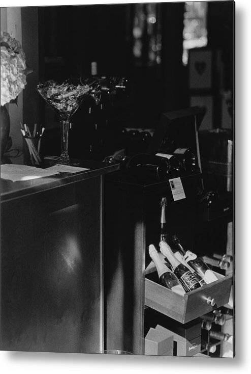 Still Life Metal Print featuring the photograph Through The Wine Shop Window by Jim Furrer