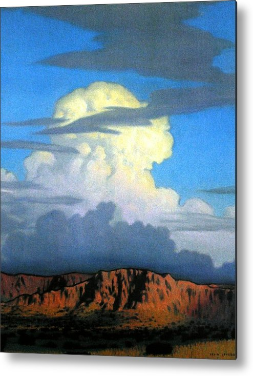 Weather Metal Print featuring the painting Thunderhead by Kevin Lawrence Leveque
