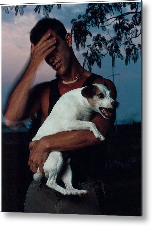 Male Metal Print featuring the photograph Todd And Winston by Rusty Walton