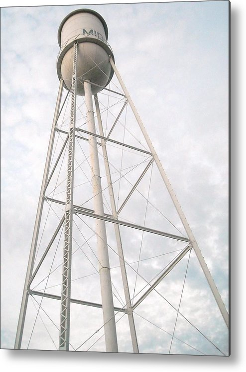 Water Tower Metal Print featuring the photograph Tower by Keith Gray