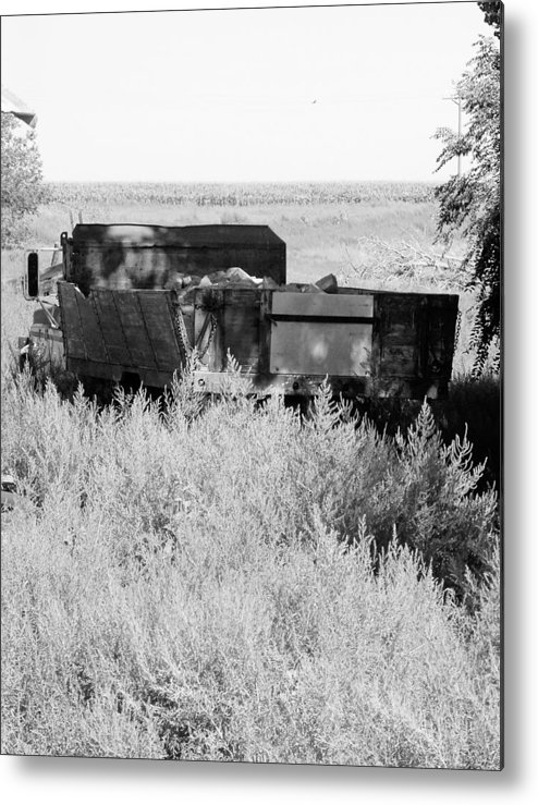Farm Metal Print featuring the photograph Trash Truck by Margaret Fortunato