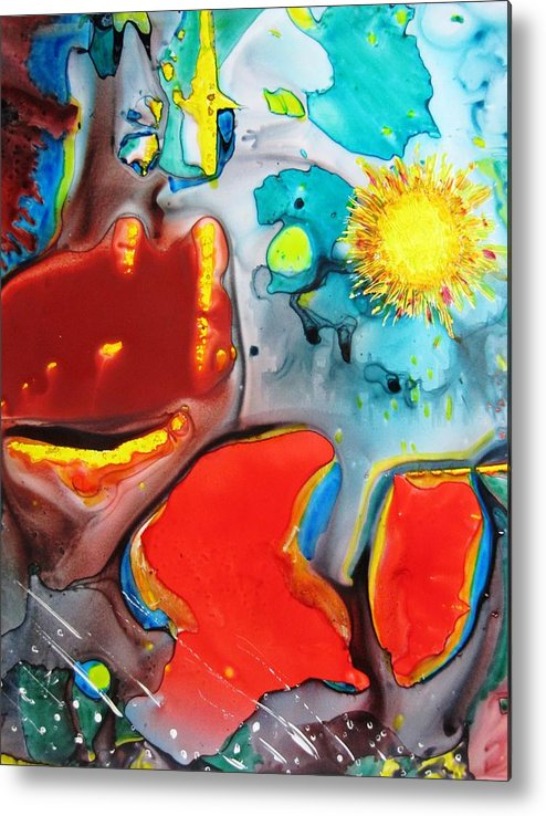 Space Metal Print featuring the painting Universe Four by David Raderstorf
