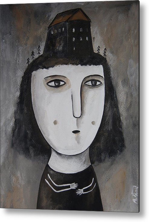 Girl Metal Print featuring the painting Untitled by Aleksandra Panic