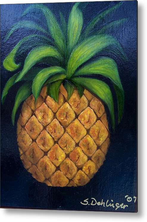 Still Life Metal Print featuring the painting Welcome    by Susan Dehlinger