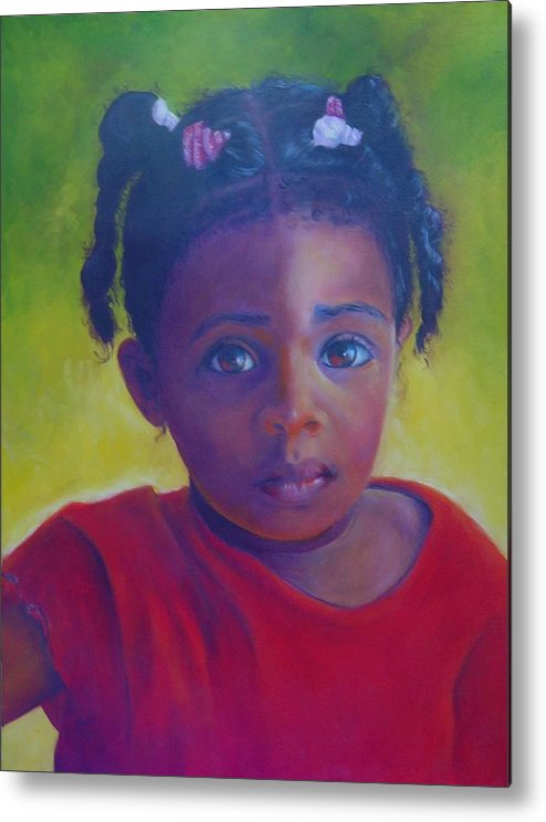 Child Metal Print featuring the painting Where Is My Mommy by Merle Blair