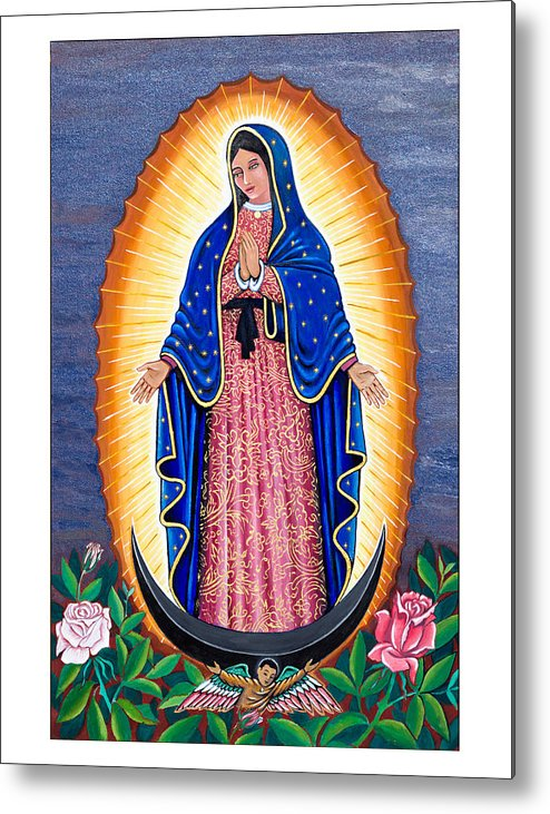 Guadalupe Metal Print featuring the painting White Rose Red Rose by James RODERICK