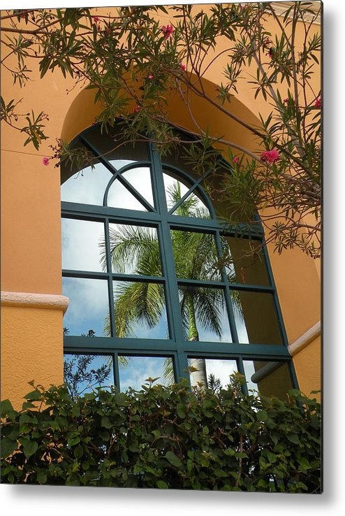 Window Metal Print featuring the photograph Window Reflections by Rosalie Scanlon