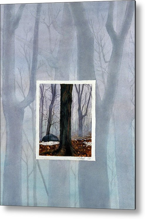 Winter Metal Print featuring the painting Winter by Nancy Ethiel