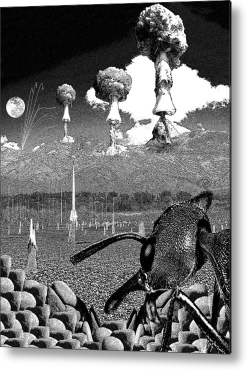 Ants Metal Print featuring the digital art Book Illustation - World War Zero by Chas Hauxby