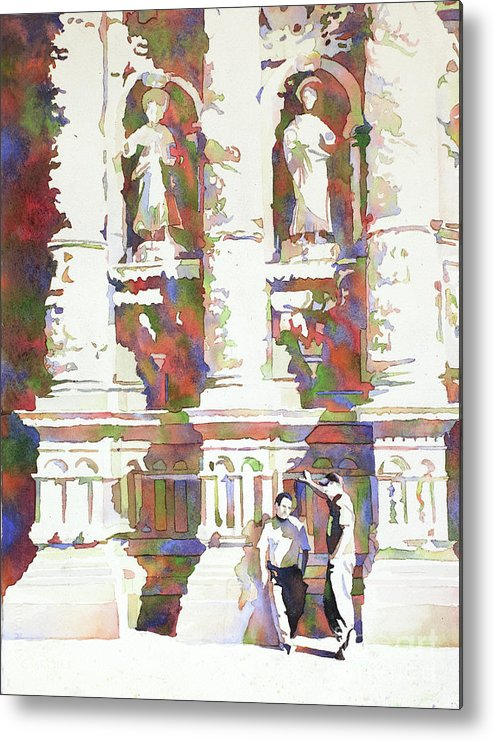 Architecture Mexico Metal Print featuring the painting Zacatecas Cathedral by Ryan Fox