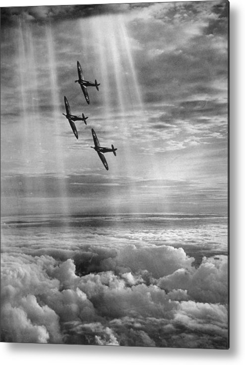 Tranquility Metal Print featuring the photograph Supermarine Spitfire by Fox Photos
