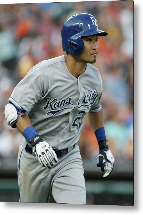 American League Baseball Metal Print featuring the photograph Kansas City Royals V Detroit Tigers by Duane Burleson