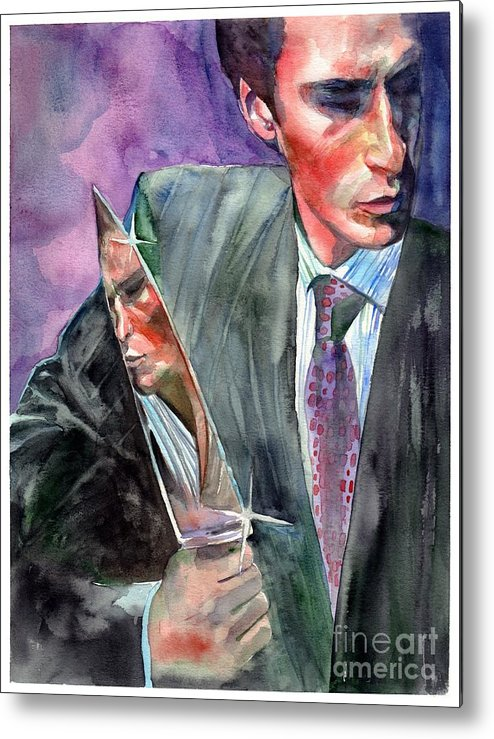 American Psycho Metal Print featuring the painting American Psycho Painting by Suzann Sines