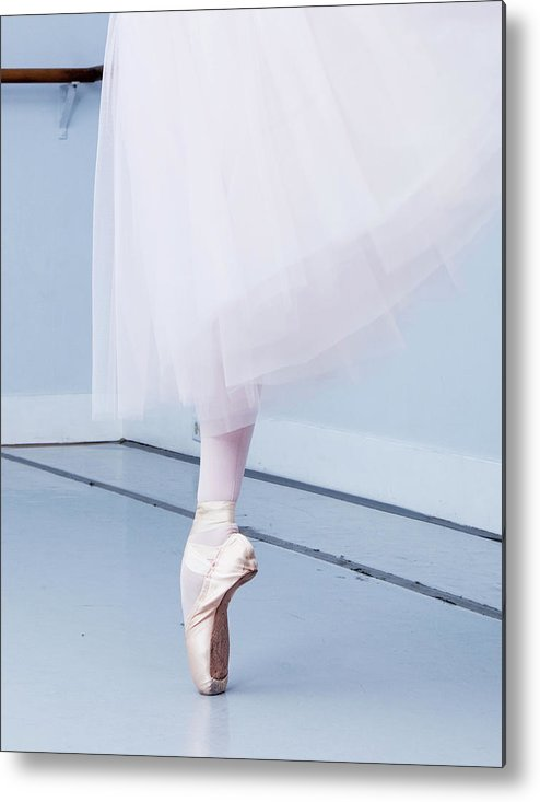 Expertise Metal Print featuring the photograph Ballerina On Pointe Low Angle View by Jonya